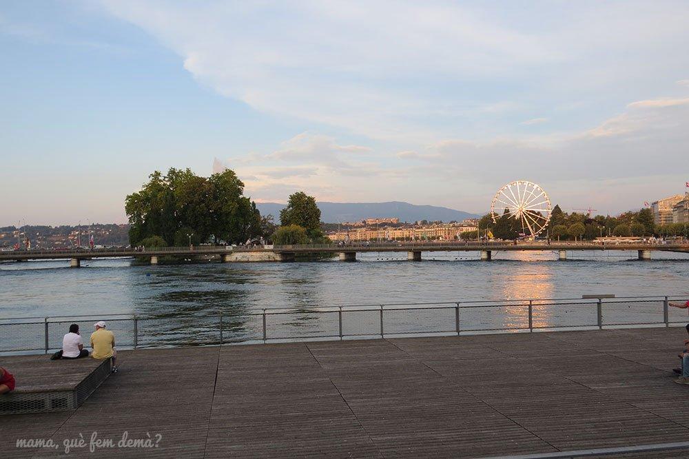 Pont de la Machine en Ginebra