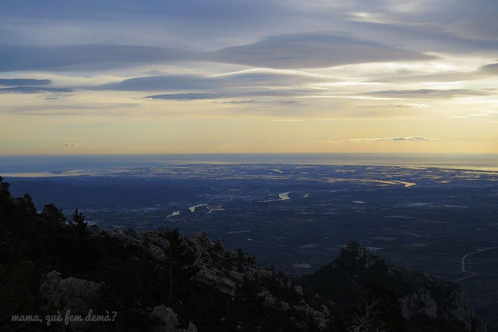 desembocadura del Ebro desde Mont Caro