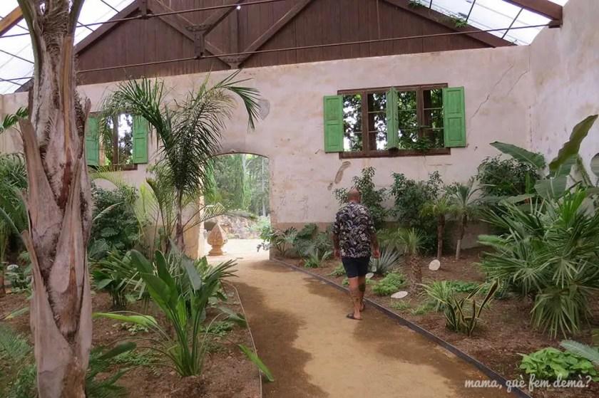 interior del invernadero Alfonso Fontcuberta y Samà del Parc Samà