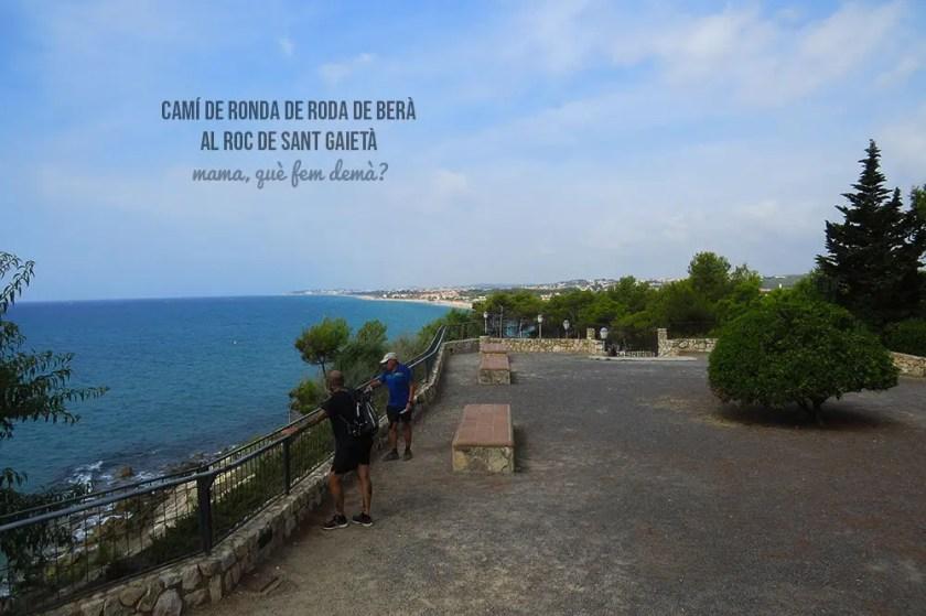 mirador de la playa desde la Ermita de la Mare de Déu de Berà