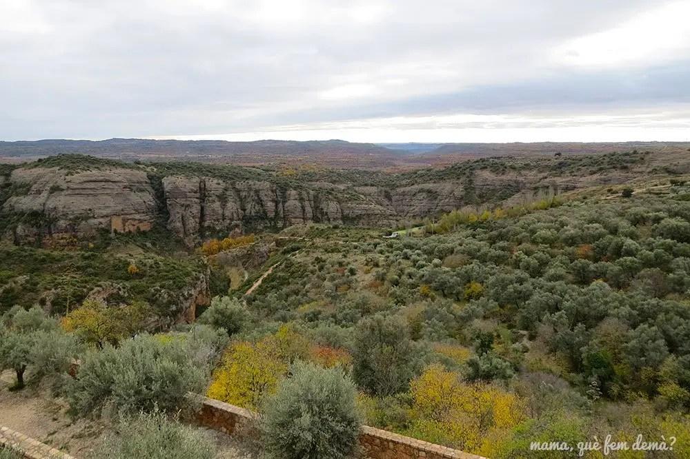 vistas de la sierra de Guara desde el mirador O'Bicón de Alquézar
