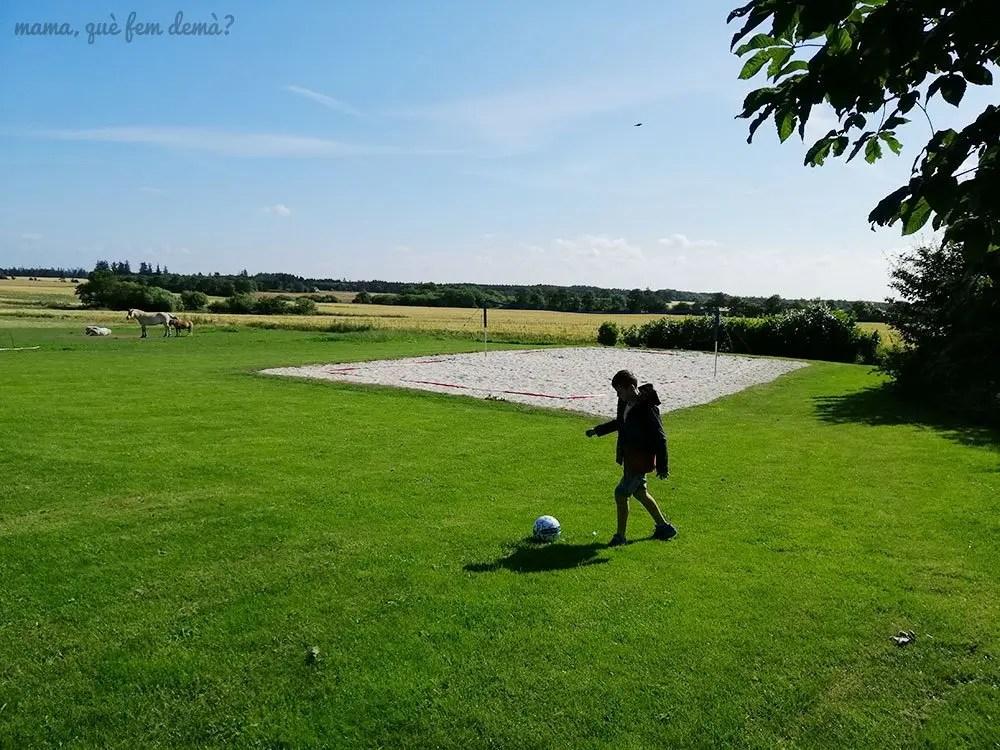 Campo de volley de los apartamentos Fitting Landsbyferie en Vorbasse