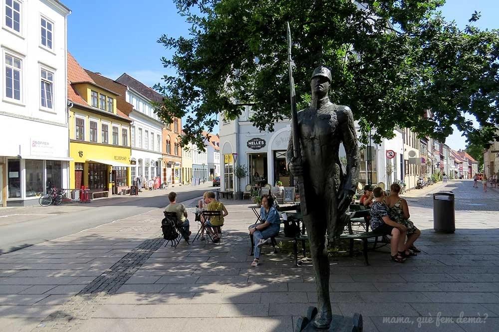 Escultura del soldadito en Odense, Dinamarca
