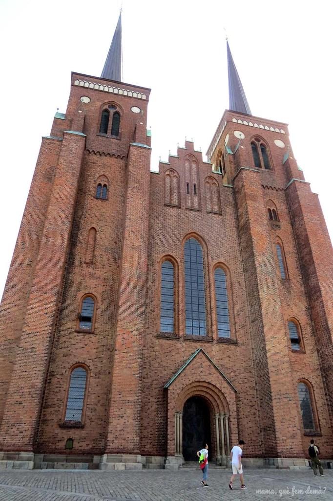 Fachada de la catedral de Roskilde
