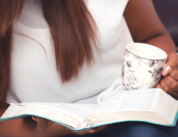 woman reading bible feature image