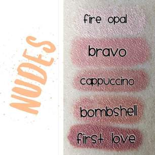Nudes color swatches