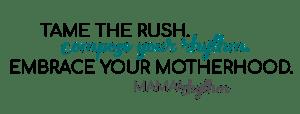 Mama Rhythm Blog Logo Compose Your Rhythm Embrace Motherhood