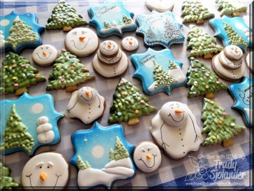 winter themed cookies