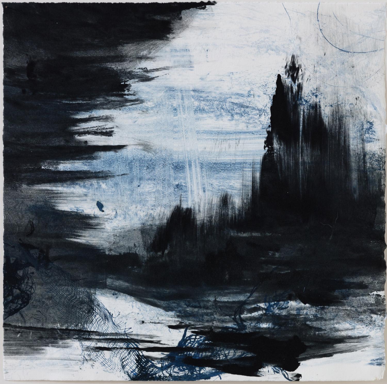 "Christine Aaron, Cove II, Monotype, 12""x12"", $450"