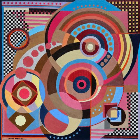 "Larry Gordon, Celebration, Acrylic/Canvas, 20""x20"", $1,200"