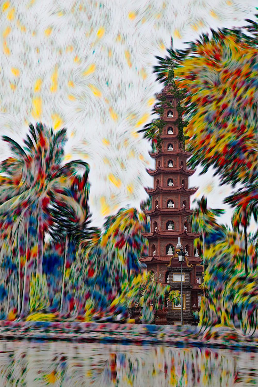 "H. David Stein, Tran Quoc Pagoda in Hanoi, Photograph, 18""x24"", $425"