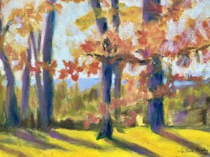 """Arlene Oraby, The Clearing, Oil, 16""""x20"""", $275"""