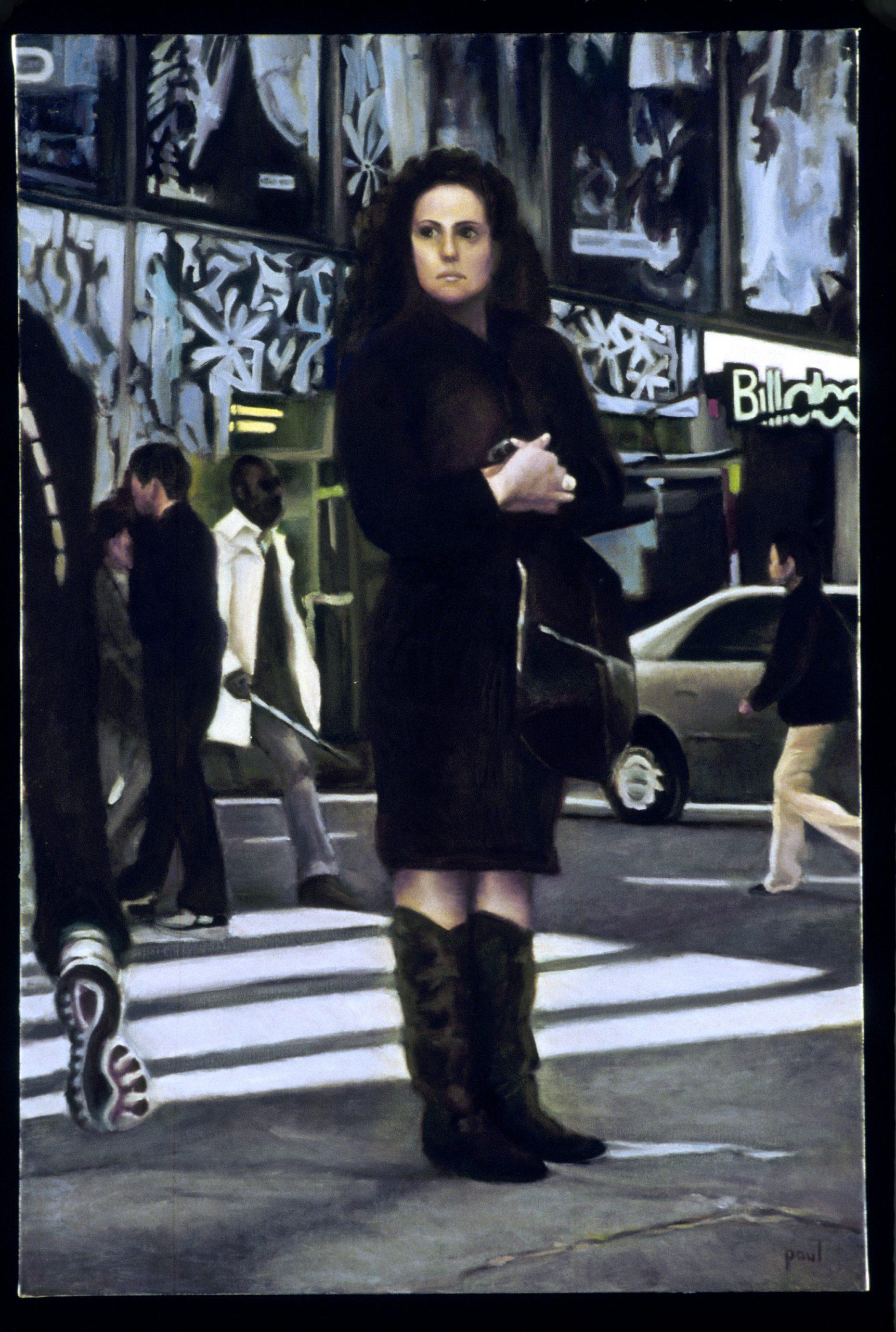 """Sherri Paul, Late Again, Oil on linen, 36""""x24"""", $1,200"""