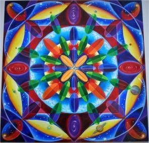 """Louis Velasquez, Expanding Universe, Acrylic on paper, 9""""x9"""", $1,125"""