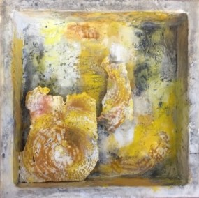 "Mitchell Visoky, Segments, Mixed Media, 12""x12"", $700"