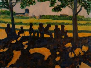 """Don Sexton, Tuileries Afternoon, Oil on canvas, 18""""x24"""", $2,400"""