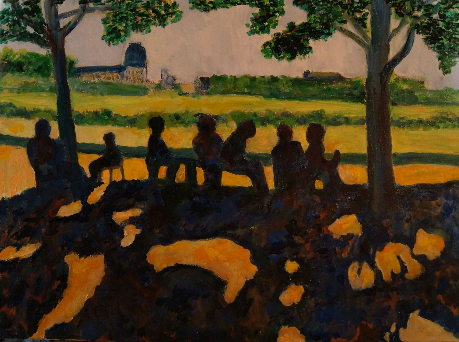"Don Sexton, Tuileries Afternoon, Oil on canvas, 18""x24"", $2,400"