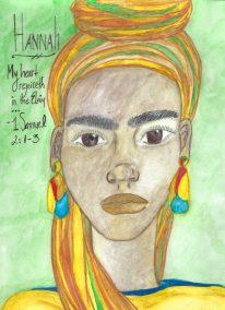"Michelle E.E. Avery, Hannah, Watercolor pencil drawing, 8""x11"",$400"