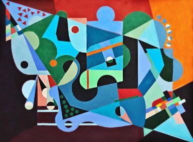 """Larry Gordon, Indignation, Acrylic (framed), 24""""x18"""", $850"""
