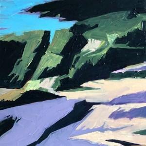 "Marion Schneider, Manor Park 2, Acrylic, 12""x12"", $1,600"