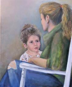 """Sherri Paul, Up, Oil on linen, 23""""x19"""",$800"""
