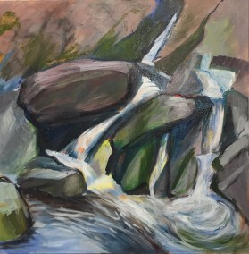 """Hilda Green Demsky, Meguntecook Falls, ME, Oil, 20""""x20"""",$600"""