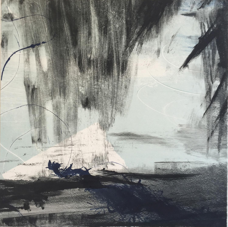 "Christine Aaron, White Whale, Monotype, 12""x12"", $250"