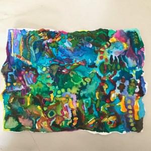 """Diane Cherr, From My Window, Watercolor on Paper, unframed, 6""""x8"""", $150"""