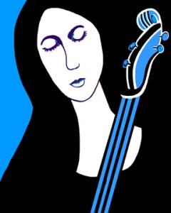 "Joan Lengel, Girl With Cello, Digital, 16""x20"", $350"