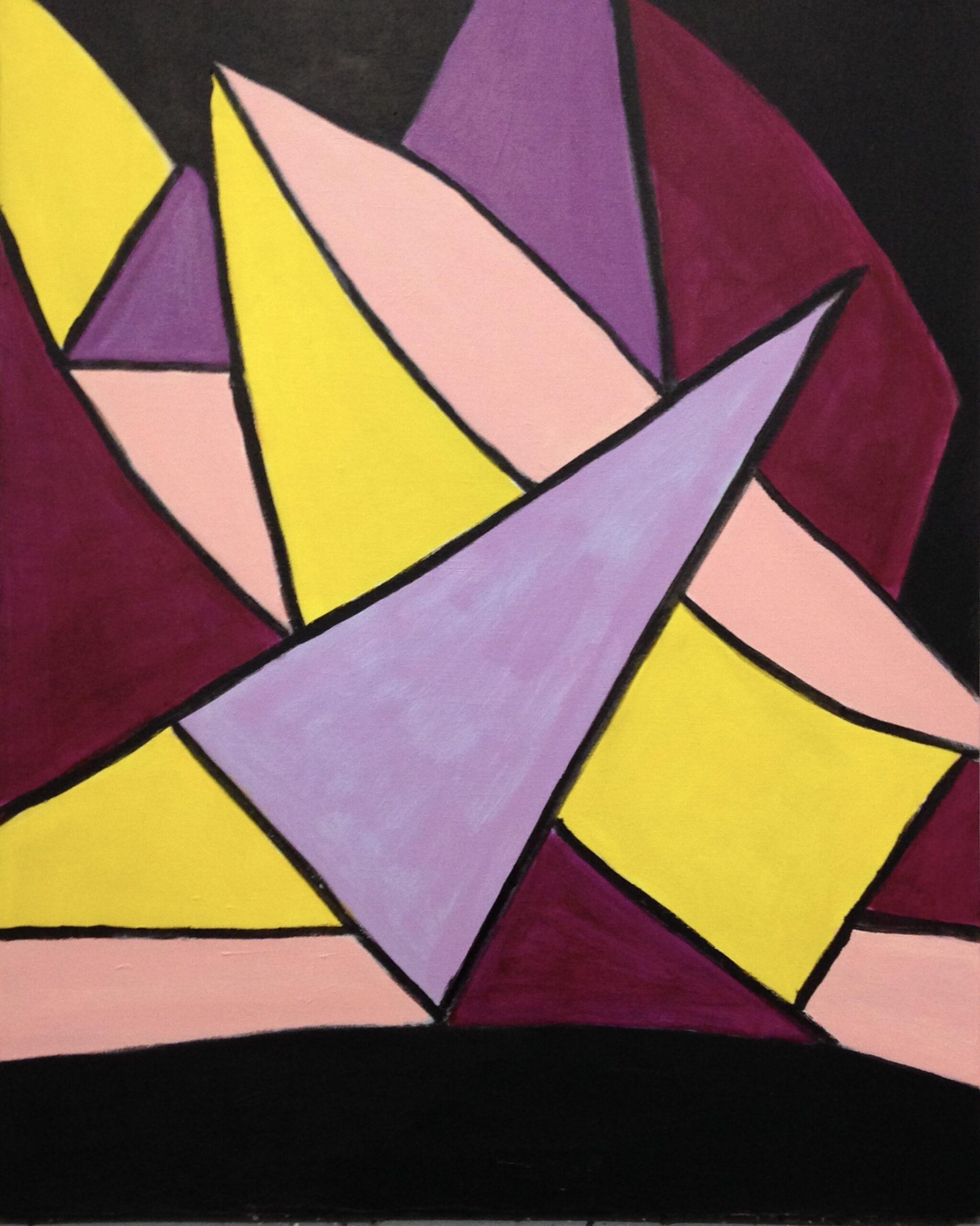 """Dorothy Cancellieri, Abstract #1, Acrylic, 31""""x41"""", $350"""