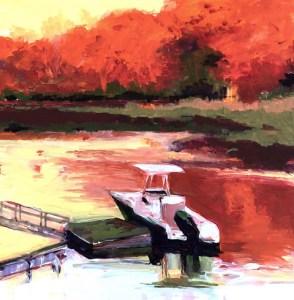 """Marion Schneider, From My Kitchen Window, Acrylic, 12""""x12"""", $1,200"""