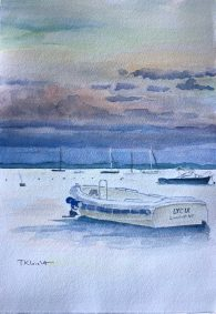"Tricia Leicht, After the Storm, Watercolor, 7.5""x11"", $300"