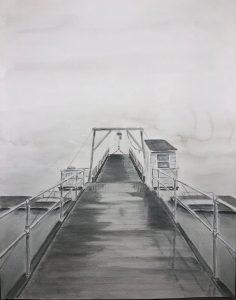 """Tricia Leicht, Winter, Watercolor, 11""""x14.5"""", $400"""