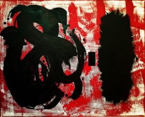 """Leslie Hardie, Calligraphic, Mixed Media, 16""""x20"""", $500"""