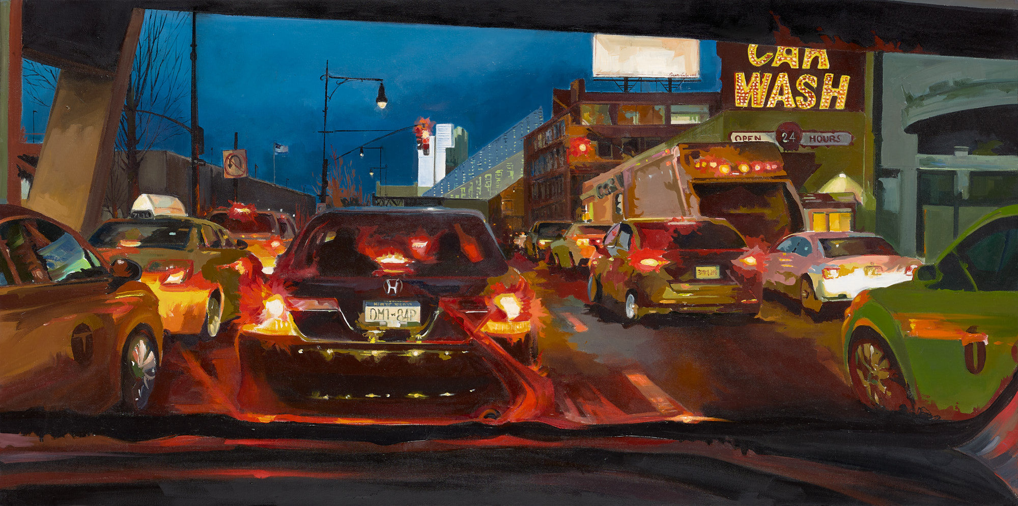 "Julia Eisen-Lester, 12th Avenue, Oil on Canvas, 30""x60"", $4,200"