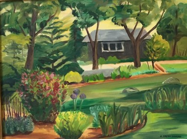 "Hilda Green Demsky, Green Garden , Oil on canvas, 24""x30"", $500"