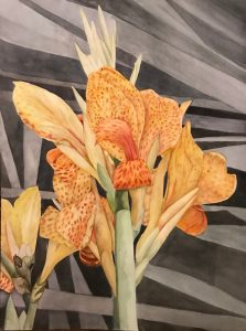 "Lorie Gurian, Canna, Watercolor, 18""x24"", $600"
