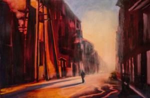 "Jane Black, Solitude, Havana, Oil on linen, 24""x36"", $1,200"