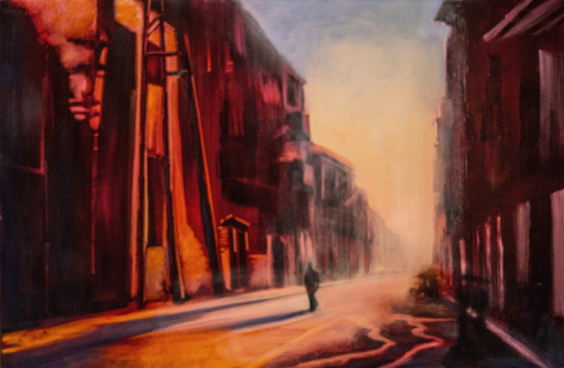 "Jane Black, Solitude, Havana, Oil on linen, 24""x36"", $1,200"