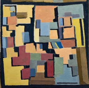 "Alan Garry, Cordoba, Oil on canvas, 9""x9""x1/4"", $300"