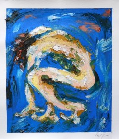 """Maria Teresa Ortiz-Naretto, Body Study #159, Oil on paper, 14""""x12"""""""