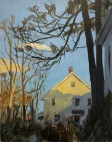 "Susan Stillman, Last Light, Acrylic on wood panel, 14"" x 11"" x .75"", $625"