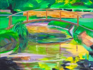"""Hilda Green Demsky, All About the Brook, Oil on canvas, 18""""x24"""", $600"""