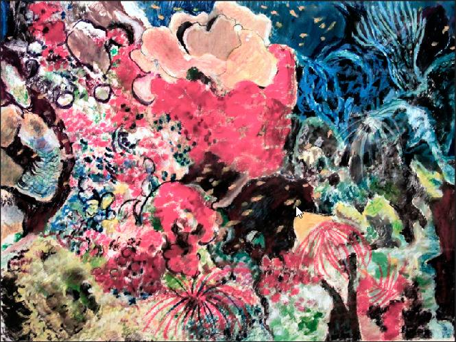 "Vivian Bergenthal, Coral Reef, Mixed media, 19""x23"", $600"