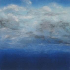"Mitchell Visoky, Blue Sky, Monotype, 18""x18"", $700"