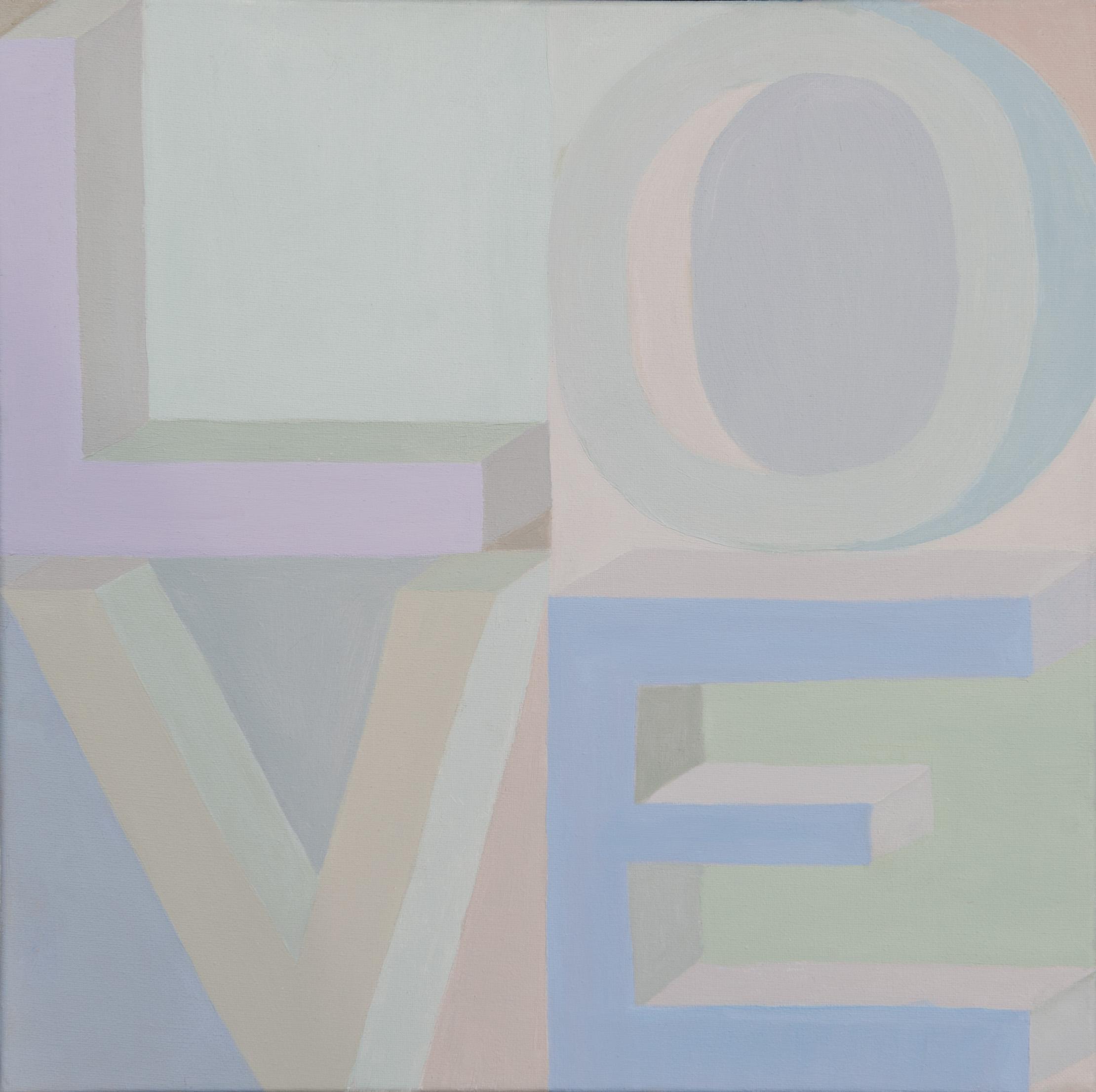 "Paula Blumenfeld, Love, Oil, 20""x20"", $1,400"