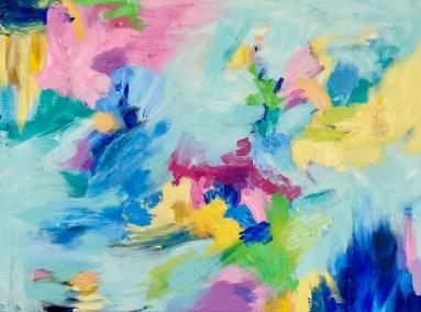 """Aimee Hofmann, Bizarre Love Triangle 4, Acrylic on canvas, 30""""x40"""", $1,400"""