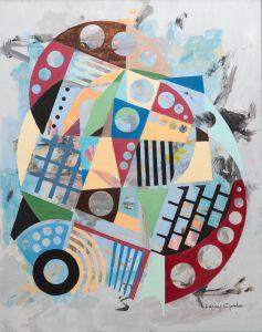 """Larry Gordon, Infinity ll, Acrylic on canvas, 20""""x20"""", $1,500"""