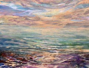 "Helen Schiliro, Where Sky Meets Sea, Acrylic, 11""x14"", $400"