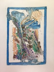 "Inge Pape Trampler, Zechariah 3:4, Acrylic, 8.5""x11"", $500"